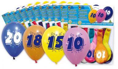 8 palloncini numero 40