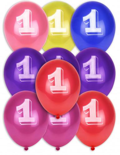 10 palloncini con numero 1