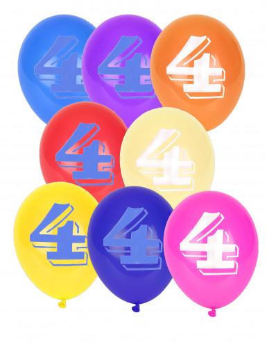 8 palloncini con il numero 4
