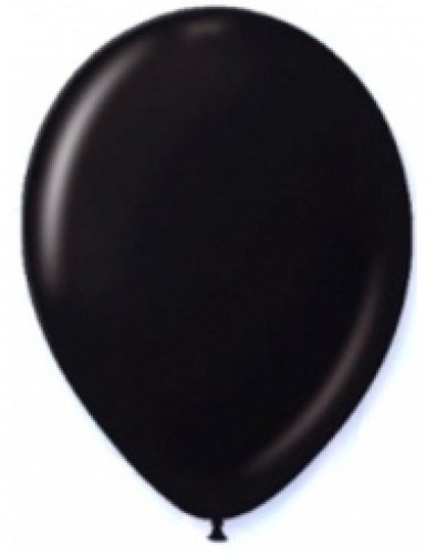 12 palloncini di colore nero 28 cm