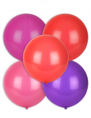 5 palloncini grandi multicolori