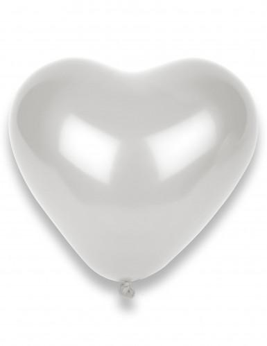 8 Palloncini bianchi a forma di cuore
