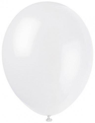 100 palloncini da 27 cm bianchi
