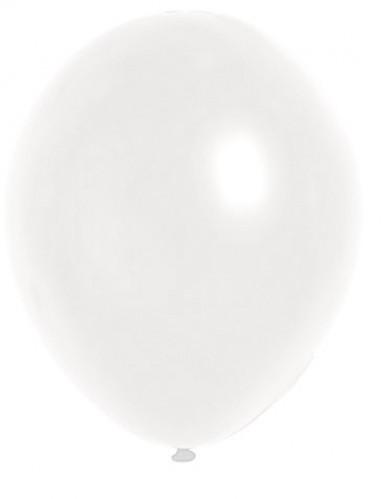 100 palloncini bianchi 29 cm metallizzati
