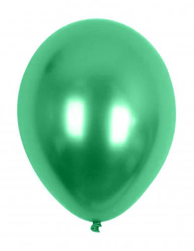 Palloncini verdi metallizzati 29 cm