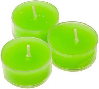 6 candele scaldavivande verdi