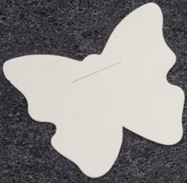 Confezione da 10 farfalle bianche in carta