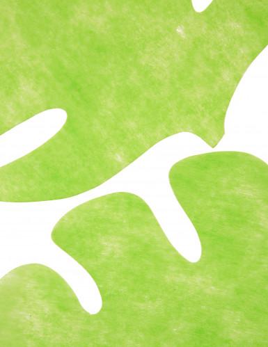 Set di 4 Tovagliette sottopiatto a forma di foglia di colore verde anice-1