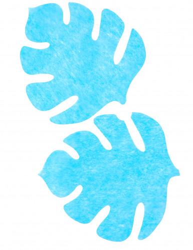 4 tovagliette a forma di foglia color turchese-1
