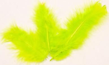 20 piume decorative color verde anice