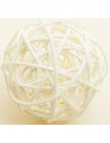 6 sfere in vimini avorio diametro 3.5 cm