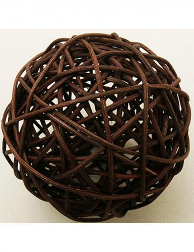 2 palle di vimini marrone diametro di 6 cm