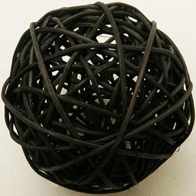 2 sfere in vimini nero diametro 6 cm