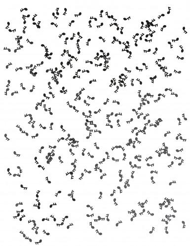 Coriandoli da tavolo neri a forma di note musicali-1