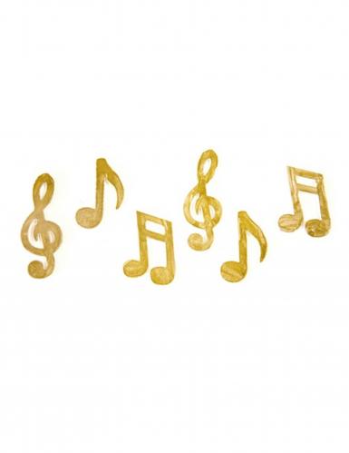 Coriandoli da tavola a forma di note musicali dorate