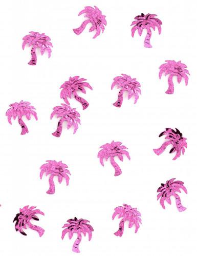 Coriandoli da tavolo a forma di palma fucsia