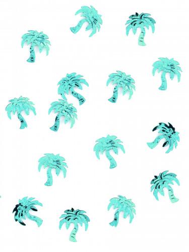 Coriandoli da tavola a forma di palma color turchese