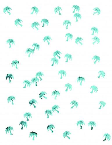 Coriandoli da tavola a forma di palma color turchese-1
