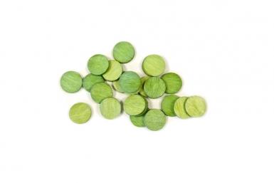 Coriandoli da tavola rotondi verdi
