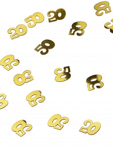 Coriandoli da tavolo dorati numero 50