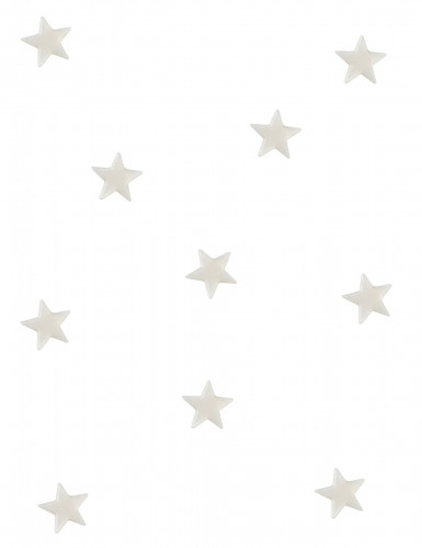 10 specchietti a forma di stella bianchi