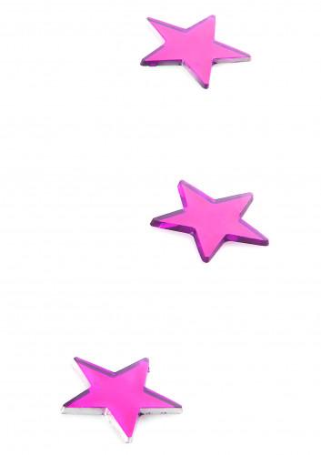 10 specchietti a forma di stella fucsia-1