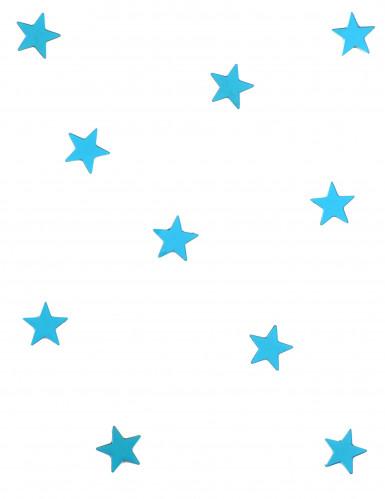 10 mini specchi azzurri a forma di stella