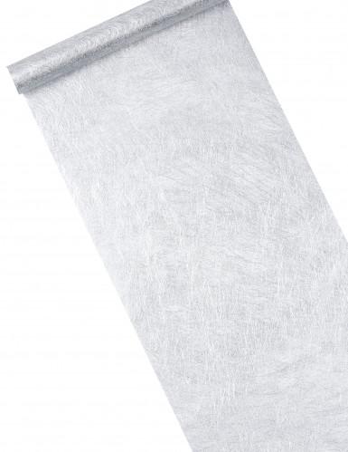 Runner da tavola in colore argento metallizzato
