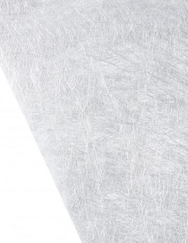 Runner da tavola in colore argento metallizzato-1