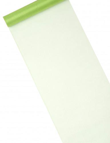 Runner da tavola in organza verde erba brillante
