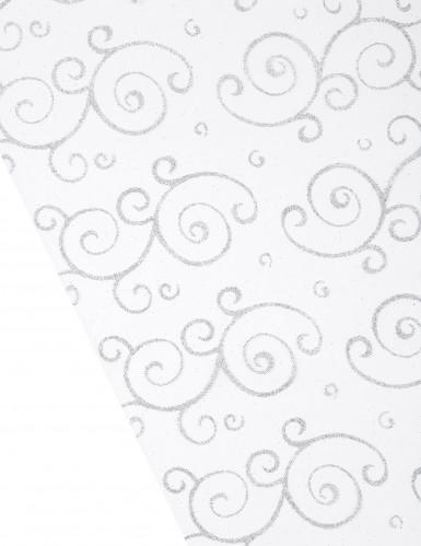 Rotolo organza bianco arabescato-1