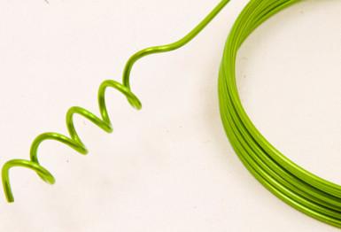 Filo in alluminio verde