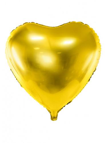 Palloncino a forma di cuore dorato