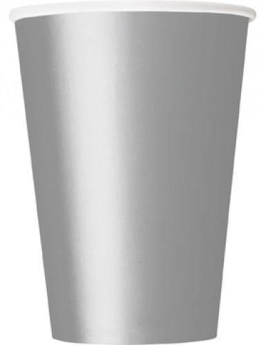 10 Bicchieri di carta argentati