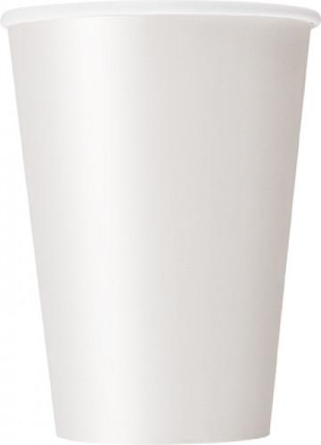 10 bicchieri di carta bianchi