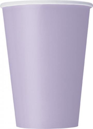 10 bicchieri di carta color lavanda