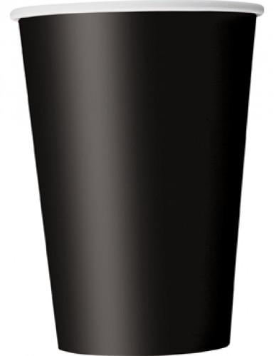 Pacco da 10 bicchieri di carta total black