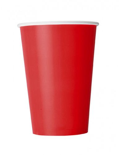 10 bicchieri di cartone rossi