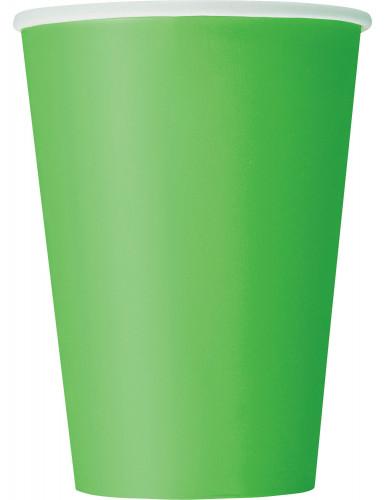 10 bicchieri di carta di colore verde