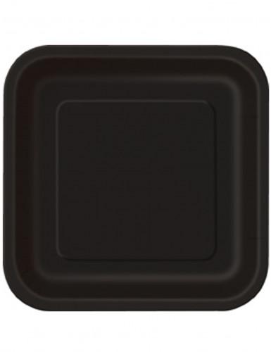 14 Piatti neri quadrati usa e getta