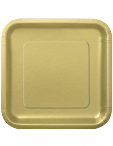 14 piatti di cartone grandi colore oro