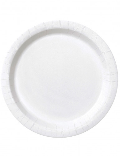 16 Piatti di carta bianchi da 23 cm