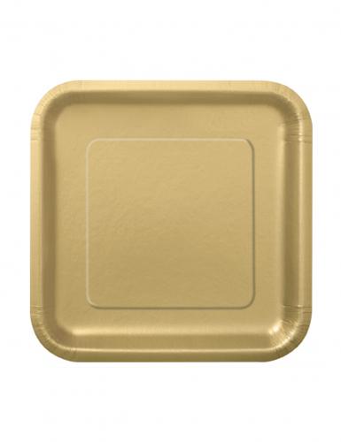 16 piattini color oro in cartone