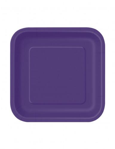 Piatti di carta viola in confezione da 16