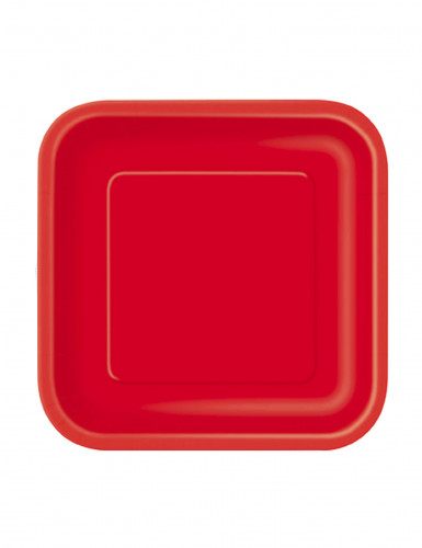 Set di piattini rossi per feste