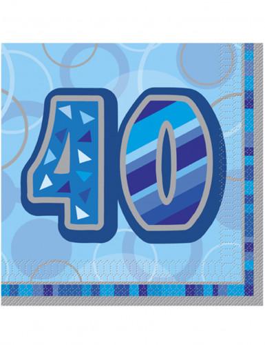 Confezione di 16 tovaglioli colore blu