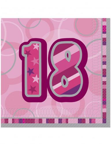 16 tovaglioli rosa di carta