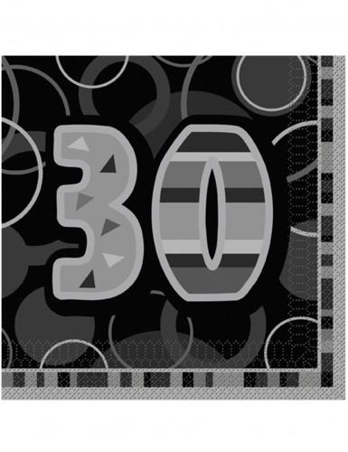 16 tovaglioli colori grigio e nero per 30? compleanno