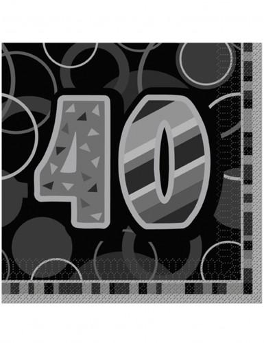 16 tovaglioli di colore grigio per 40 anni