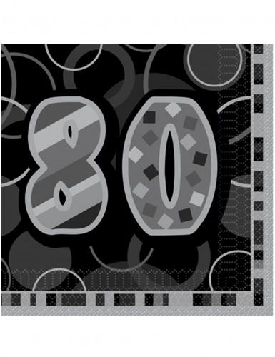 16 tovaglioli di carta grigie 80 anni